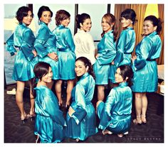 Bridesmaids robes. Bridesmaids gifts.
