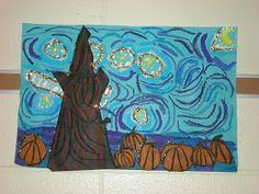 WHAT'S HAPPENING IN THE ART ROOM??: Van Gogh Pumpkin Patch