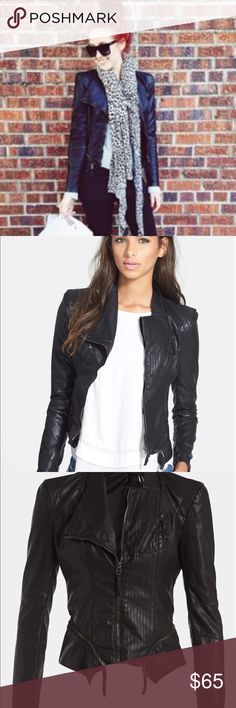 Blank NYC faux Leather Jacket Good condition. As seen on Jaclyn Hill. Blank NYC Jackets & Coats