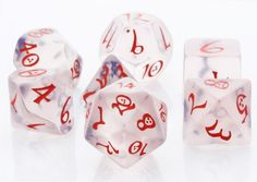 Elven Dice (Classic Ice). Elven dice are ready for your greatest RPG adventures. Get ready to roll with these awesome role playing dice in a translucent color.