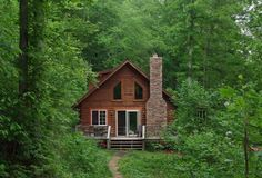 This little house in the woods looks like an ideal place to live to me.