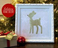 Glitter reindeer :: Simple Craft Night Project