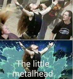 Metal Memes That'll Make You Wanna Hail Satan Let the metal flow through your veins with these brutal memes!Let the metal flow through your veins with these brutal memes! Black Metal, Rock Y Metal, Music Memes, Music Humor, Black Mermaid, The Little Mermaid, Hard Rock, Funny Images, Funny Pictures