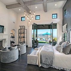 Wood Beam Ceiling Contemporary Master Bedroom Ideas Master Bedroom Ideas Top 60 Best Master Bedroom Ideas - Luxury Home Interior Designs dream house luxury home house rooms bedroom furniture home bathroom home modern homes interior penthouse Luxury Bedroom Design, Master Bedroom Interior, Dream Bedroom, Home Bedroom, Modern Bedroom, Contemporary Bedroom, Mansion Bedroom, Master Bedrooms, Bedroom Designs