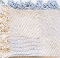 textured woven throw