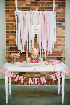 New Year S Cake Designs | love this pink and gold New Year's Eve party on Kara's Party Ideas ...