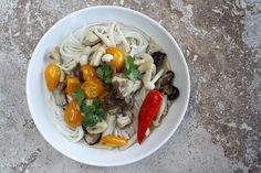Sauteed Spring Mushrooms, Chiles + Cilantro in Caramelized Coconut Broth // Food52