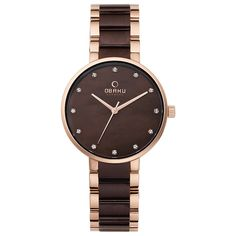 GLAD - NUT designer watch.         Specifications -     Case: Rosegold,     Dial: Mother of Pearl,     Strap: Stainless Steel Link,     Water Resistant: 3 ATM,     Size: w34 x h38 mm,     Warranty: 2 years,     Design by: Christian Mikkelsen,     Item Code: V189LXVNSA,        #DesignerWatches   #Watches