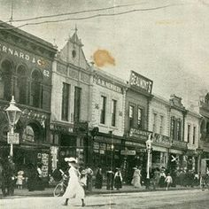 Rundle St,Adelaide in South Australia in 1904.Business names prominent in the view are Fruhling's, D. Bernard & Co., A.K. Newbery, Beaumont's Fancy Bazaar and Sheffield House. Fruhling's is on the east corner of Gawler Place'.