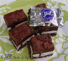 York peppermint brownies  - I LOVE LOVE LOVE YORK!