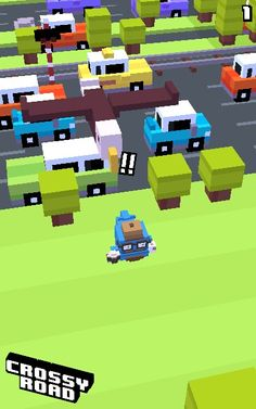 Playin Crossy Road...this morning i got hipster whale, and then i got the drop bear and the crab at the SAME EXACT TIME!!!! IT WAS CRAZY......oh hey...there's Frederick the bird