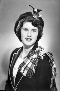 Miss Beverly Page in Scottish national dress - Auckland News 4 October 1950.