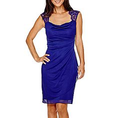 jcp | Scarlett Sleeveless Lace-Shoulder Sheath Dress