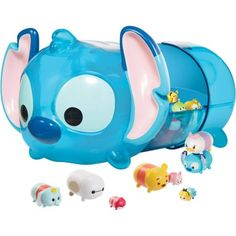 Jakks Pacific Exclusive Disney Tsum Tsum Stitch Case with 1 Large Crystal Figure - Exclusive to Walmart Pieces) - Tsum Tsum Toys, Disney Tsum Tsum, Stitch Tsum Tsum, Lelo And Stitch, Girls Nail Designs, Funny Phone Wallpaper, Cartoon Wallpaper, Cute Kawaii Animals, Tsumtsum