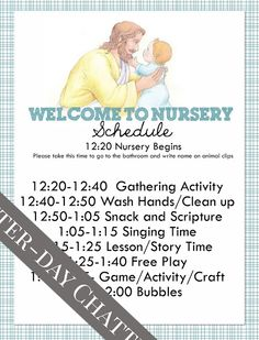 Latter-Day Chatter: Nursery Schedule and Roll   Includes a nursery info sheet for parents to fill out! #LatterdayChatter #LDS #Nursery