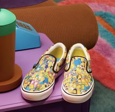The Simpsons x Vans Vans Slip On, Rubber Shoes, The Simpsons, Bmx, The Help, Skateboard, Sneakers, Fashion, Shoe