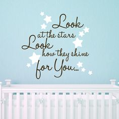 Coldplay Quote Nursery Quote 22X22 Look At by saltyseatreasures, $22.00