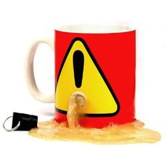 """""""The Plug Mug is a coffee mug with a detachable plug that you keep on you to stop others from every being able to use your mug. This plug mug is great for use at the office where you are convinced your co-workers are the source of every popular disease known to man.."""" {image looks gross, but the product looks useful}"""
