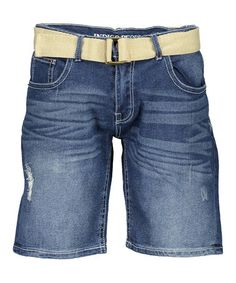 Look what I found on Deep Indigo Whiskered Denim Shorts & Belt - Men's Regular Summer Shorts Outfits, Short Outfits, Bermuda Shorts, Indigo, Denim Shorts, Deep, Products, Fashion, Moda