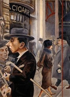 George Grosz, Street Scene, Berlin Kurfürstendamm, 1925 by kraftgenie, via Flickr