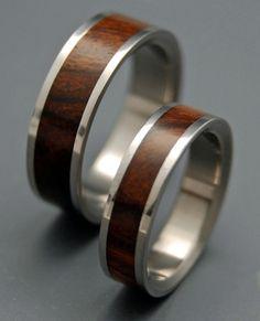 Hölzerne Hochzeit Ringe Titan Eheringe von MinterandRichterDes
