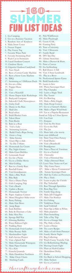 160+Summer+Fun+List+