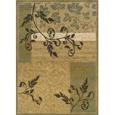 Found it at Wayfair - Florence Gold/Green Area Rug