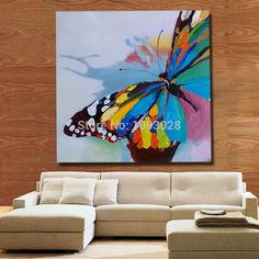 aeProduct.getSubject() Acrylic Painting Canvas, Fabric Painting, Watercolor Paintings, Butterfly Painting, Butterfly Art, Butterflies, Easy Paintings, Animal Paintings, Modern Canvas Art