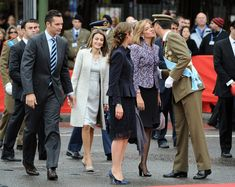 Princess Letizia, Princess Cristina, Princess Elena, Inaki Urdangarin, Prince Felipe