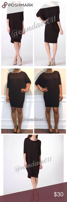 Chic Oversized LBD 🔹Oversized/Loose fit 🔹Scoop neckline 🔹Wide band hemline 🔹Super comfy 🔹96% Polyester, 4% Spandex 🇺🇸Made in the USA🇺🇸 🔹Size Recommendations: S (4-6) CC Boutique  Dresses Mini