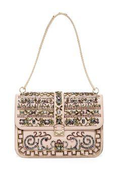Valentino Big Crystal Flap Bag