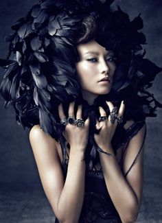 Feathers/karen cox....Cheng Yu Chiang - Fashion Photography - Bird Theme - Crow Concept Ideas