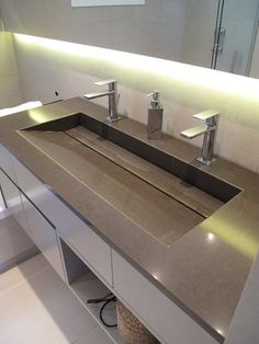 Wonderful Contemporary Home Techniques And Strategies For Contemporary Interior Design bathroom floors Bathroom Sink Design, Restroom Design, Bathroom Design Luxury, Bathroom Styling, Contemporary Interior Design, Contemporary Bathrooms, Modern Bathroom, Small Bathroom, Master Bathroom