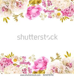 Floral decoration wedding background with roses and hydrangea in pink and white