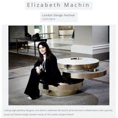 Cutting-edge jewellery designer Lara Bohinc celebrates the launch of her furniture collaborations with Lapicida lapicida.com http://www.elizabethmachinpr.com/blog/london-design-festival