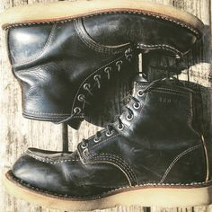 Mens Work Shoes, Running Shoes For Men, Combat Boots, Man Boots, Fashion Boots, Mens Fashion, Red Wing Boots, Denim Boots, Mens Attire