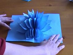 Amazing Flower Pop Up Card. : 5 Steps - Instructables Kirigami, Paper Cards, Diy Cards, Diy Paper, Pop Up Flower Cards, Pop Up Cards, Origami Design, 3d Origami, Giant Paper Flowers