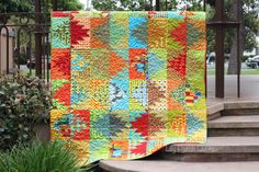 Lily Patch Quilts: Scrappy Mountain Majesties Finish
