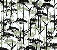 Marimekko Putkinotko x Botanical Wallpaper Roll Color: Black / White Geometric Wallpaper Design, Graphic Wallpaper, Wallpaper Roll, Cool Wallpaper, Wallpaper Ideas, Contemporary Wallpaper, Contemporary Home Decor, Modern Decor, Contemporary Design