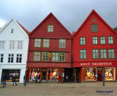 Bergen (Bryggen) Bergen, Norway, Cabin, Mansions, House Styles, Home Decor, Decoration Home, Room Decor, Fancy Houses