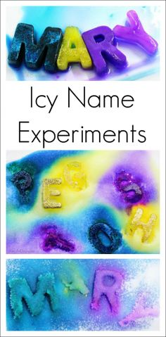 Name ice Melting - what a fun blend of science, art, and literacy