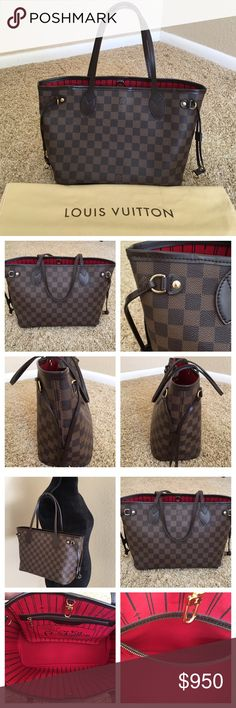 """AUTHENTIC LOUIS VUITTON DAMIER NEVERFULL PM 100% Authentic Louis Vuitton Damier Neverfull PM. You are gonna love this bag ❤️ The overall is like new... Mint condition... Made in France in 2010. W11.4""""x H8.7""""x D5.1"""". Includes original LV dust bag. No trades. Includes Poshmark Authentication. Louis Vuitton Bags Shoulder Bags"""