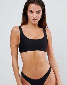 49d768b18b Lepel London Ribbed Cropped Bikini Top at asos.com