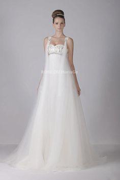 Prix : €135,99 Lien pour cette robe : http://www.robedumariage.com/col-carre-robe-de-mairee-empire-traine-watteau-en-satin-et-tulle-product-5161.html