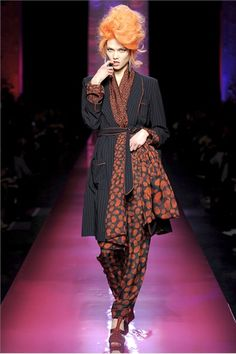 i love the multi-sized dots in this getup. Jean Paul Gaultier Haute Couture SS 2012