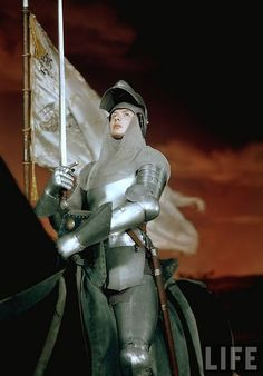 Ingrid Bergman as Joan of Arc...