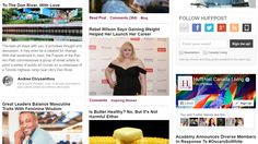 Huffington Post: Living section front page
