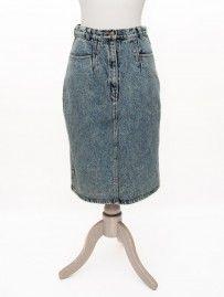 Vintage Pale Denim Acid Skirt from Lallys Closet - £15