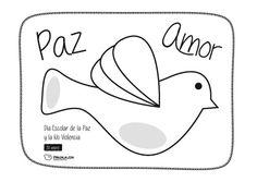 Paz y amor. Paloma de la paz.