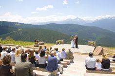Deck wedding in Vail, Colorado. Photo courtesy of Jack Affleck Photography. #mountainwedding